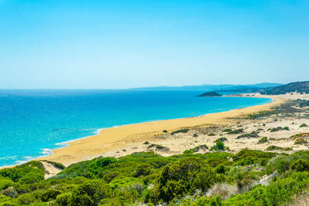 Famous golden beach situated at the end of Karpaz peninsula on Cyprus Stockfoto