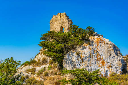 Ruins of Kantara castle in the northern Cyprus