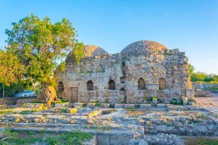 Ancient turkish bath in Paphos, Cyprus Stock Photo