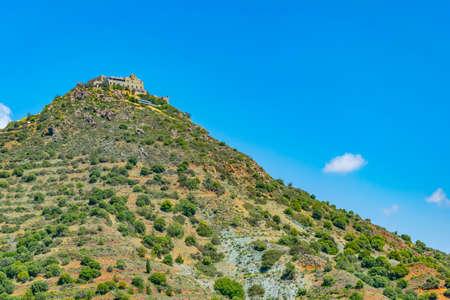 Stavrovouni monastery on Cyprus Фото со стока