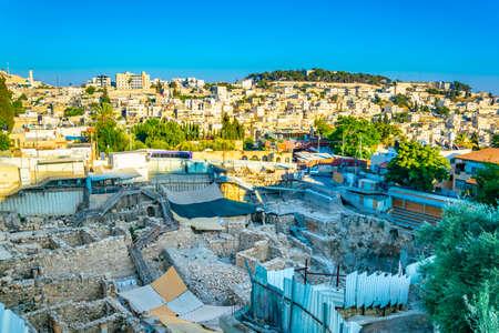 Ruins of the city of David in Jerusalem, Israel Archivio Fotografico