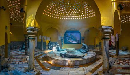 ACRE, ISRAL, LE 12 SEPTEMBRE 2018 : Intérieur du hammam al Pasha à Akko, Israël