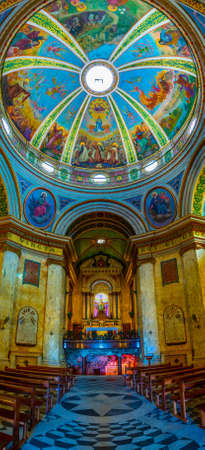 HAIFA, ISRAEL, SEPTEMBER 11, 2018: Interior of stella maris monastery in Haifa, Israel Éditoriale
