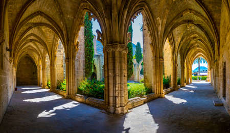 Bellapais abbey at Beylerbeyi village in Northern Cyprus Imagens