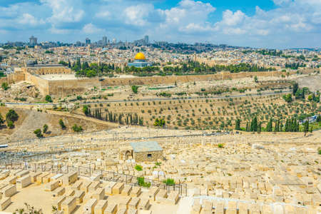 Jerusalem viewed from the mount of olives, Israel