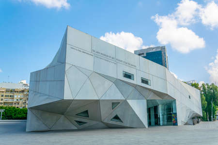 TEL AVIV, ISRAEL, SEPTEMBER 10, 2018: Tel Aviv museum of arts center, Israel