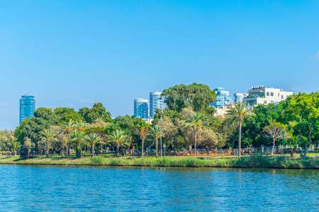 Yarkon river pasing through Tel Aviv, Israel