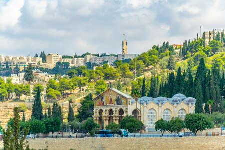 Gethsemane church in Jerusalem, Israel 写真素材 - 118508369