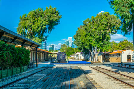 Old train station in Tel Aviv, Israel 版權商用圖片