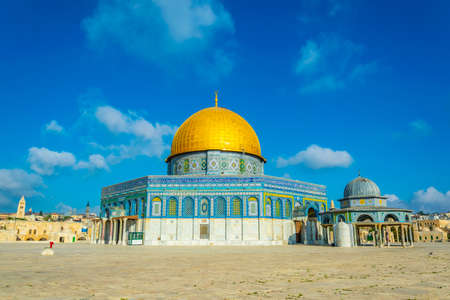 Famous dome of the rock situated on the temple mound in Jerusalem, Israel 写真素材