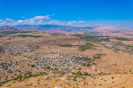 Aerial view of Hamam village from Mount Arbel in Israel Standard-Bild