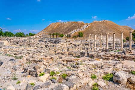 Beit Shean roman ruins in Israel