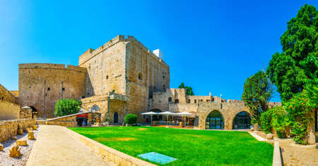 ACRE, ISRAEL, SEPTEMBER 12, 2018: View of the Knights hall in Akko, Israel