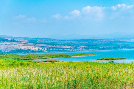 Sea of Galilee in Israel Standard-Bild