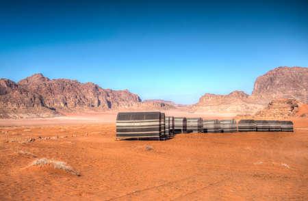 Tourist camping at Wadi Rum, Jordan