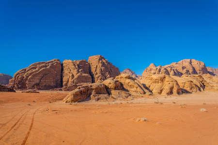 Landscape of Wadi Rum desert in Jordan