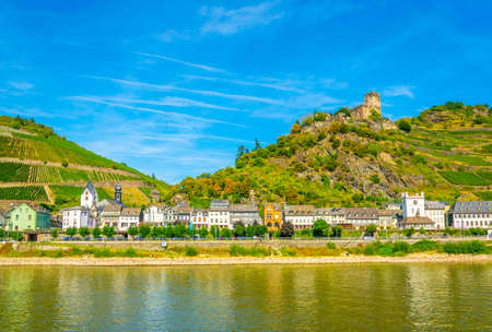Kaub town on river Rhein, Germany