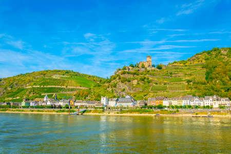 Kaub town on river Rhein, Germany