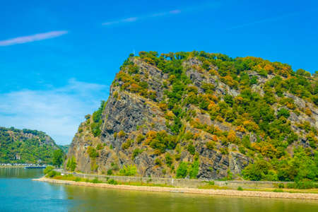 Lorelei cliff on river Rhein in Germany.