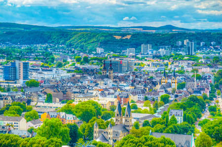 Aerial view of Koblenz, Germany 写真素材