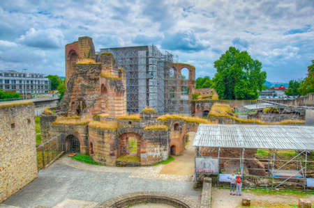 Ruins of Kaiserthermen in Trier, Germany