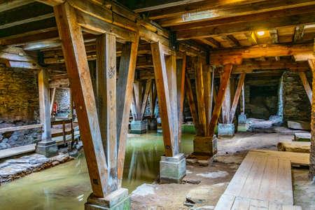 Passage souterrain de l'ancien amphithéâtre romain de Trèves, Allemagne
