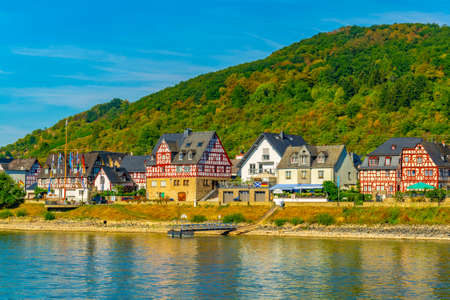 Oberspay town in Germany Фото со стока - 128285024