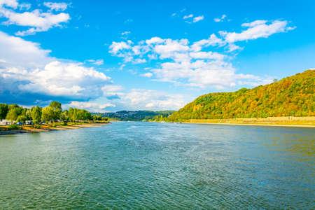 River Rhein near Koblenz in Germany Foto de archivo - 128287595