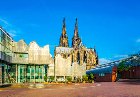 Philharmony and cathedral in Cologne, Germany