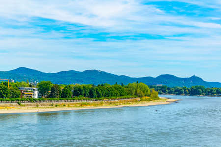 Riverside of Rhein in Bonn in Germany Imagens