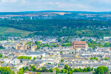 Aerial view of Trier, Germany