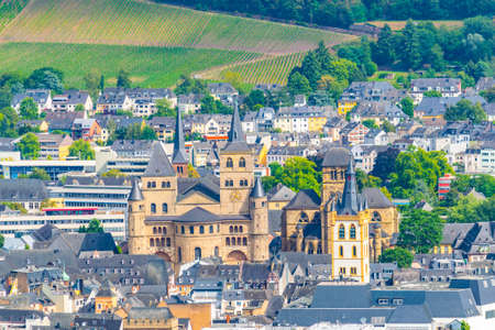 Aerial view of the cathedral in Trier, Germany