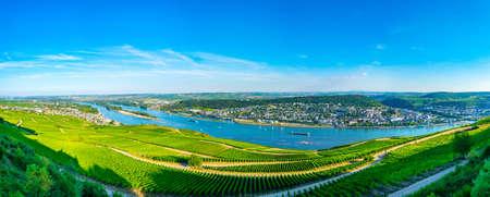 Aerial view of Ruedesheim am Rhein in Germany