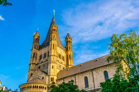 Saint martin church in cologne, Germany