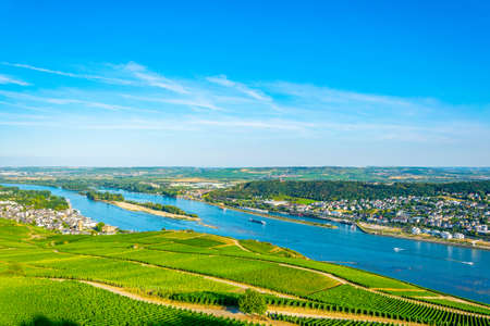 Aerial view of Ruedesheim am Rhein in Germany Banque d'images
