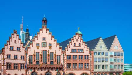 Beautiful wooden facades of houses on Romerberg square in Frankfurt, Germany Reklamní fotografie
