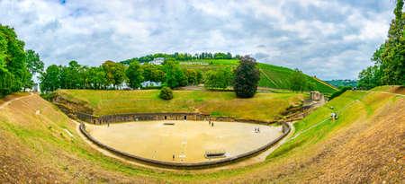 An old roman amphitheater in Trier, Germany Фото со стока
