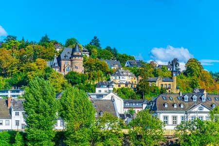 Historical houses at Ehrenbreitstein part of Koblenz, Germany