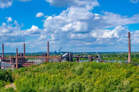 Aerial view of Zollverein industrial complex in Essen, Germany Standard-Bild