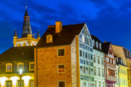Colorful facades of Hauptmarkt square in trier, Germany
