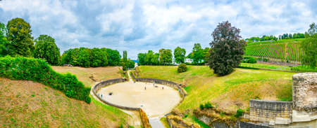 An old roman amphitheater in Trier, Germany Stock Photo