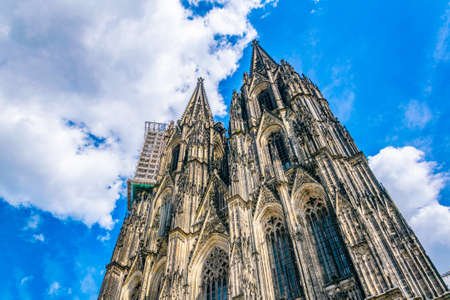 Detail of the cathedral in Cologne, Germany