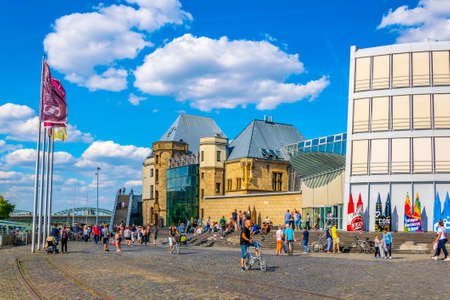 COLOGNE, GERMANY, AUGUST 11, 2018: Chocolate museum in Cologne situated next to the German sport and olympic museum at Immhof, Germany Redactioneel