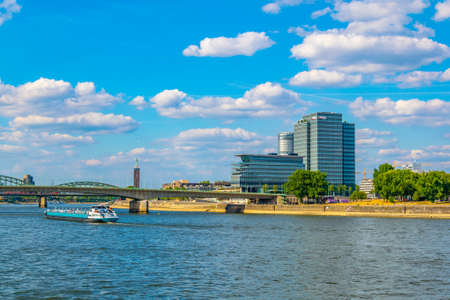 COLOGNE, GERMANY, AUGUST 11, 2018: Kennedy quay in Cologne, Germany