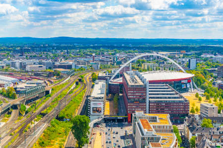 COLOGNE, GERMANY, AUGUST 11, 2018: Aerial view of Lanxess arena in Cologne, Germany Redactioneel