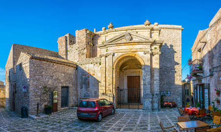 View of the San Cataldo church in Erice, Sicily, Italy