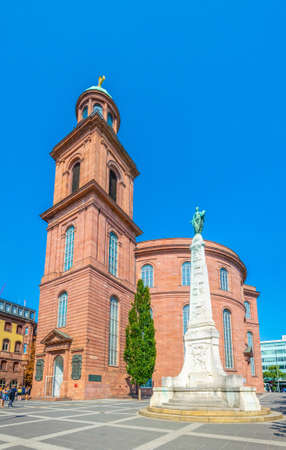 FRANKFURT, GERMANY, AUGUST 18, 2018: Saint Paul church in Frankfurt, Germany