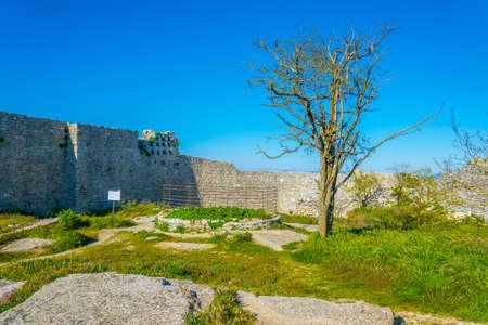 view of grounds of Castello di Venere, Italy
