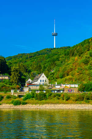 KOBLENZ, GERMANY, AUGUST 16, 2018: TV tower in Koblenz, Germany Editorial