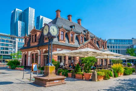 FRANKFURT, GERMANY, AUGUST 18, 2018: An der Hauptwache square in Frankfurt, Germany